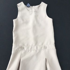 Girls school uniform dress khaki